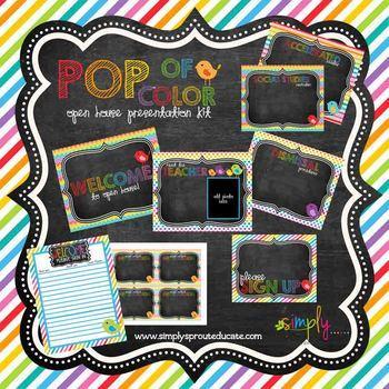 POP of color Open House presentation templates