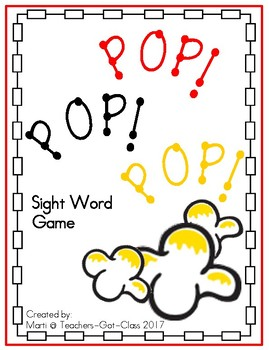 POP! sight word game