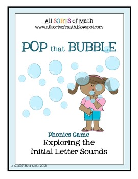 """""""POP that BUBBLE"""" Beginning Letter Sound Game (Full Version)"""