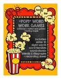 """""""POP!"""" word work game: letter ID, word families, sight words, blends, diagraphs"""