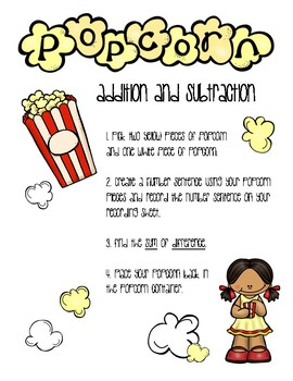 POPCORN ADDITION & SUBTRACTION