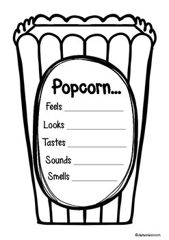 POPCORN ADJECTIVE AND VERB BUNDLE
