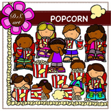 POPCORN Digital Clipart (color and black&white)