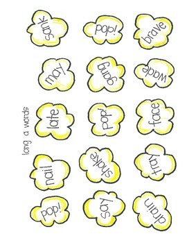 POPCORN!  Long Vowel Words