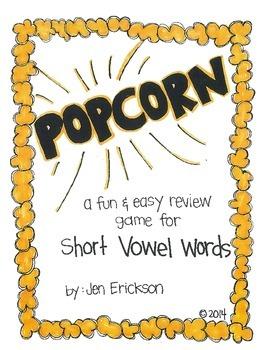 POPCORN!  Short Vowel Words