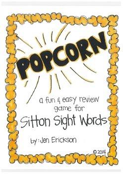 POPCORN!  Sitton Sight Words
