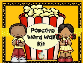 POPCORN WORD WALL KIT ~ EDITABLE!