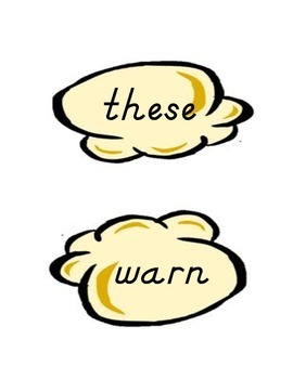 POPCORN Words (Dolch 220 Sight Words)  Common Core Word Wall