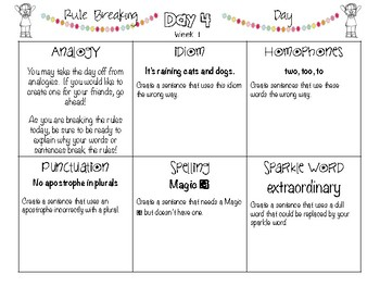 POPPERS: A Daily Writing Review for 4th Grade Set 1