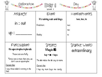 POPPERS: A Daily Writing and Grammar Review for 4th Grade Set 1