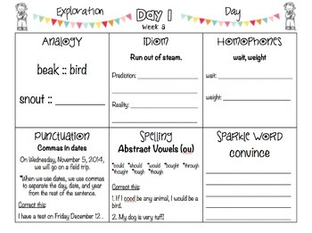 POPPERS: A Daily Writing Review for 4th Grade Set 2
