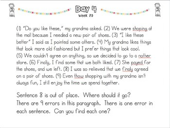 POPPERS: A Daily Writing Review for 4th Grade Set 4