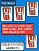 3rd Grade Popping Up Popcorn PARTS OF SPEECH Activity {COMMON CORE ALIGNED}