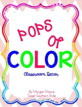 POPS of color classroom decor