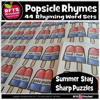 POPSICLE RHYMES SUMMER PUZZLES