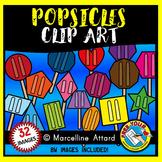 POPSICLE SHAPES CLIP ART: 2D SHAPE POPSICLES