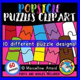 POPSICLE PUZZLES CLIP ART: SELF-CORRECTING PUZZLE TEMPLATE