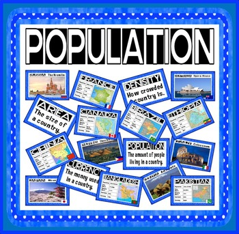 POPULATION POSTERS TEACHING RESOURCES KS2 GEOGRAPHY DISPLAY WORLD