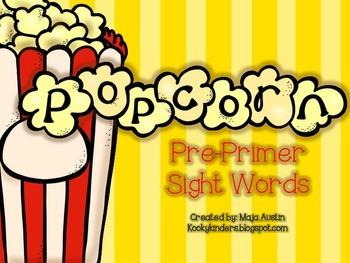 POPcorn Words Pre Primer
