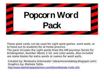 POPcorn words pack