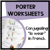 Conjugating ER verbs in French Worksheets