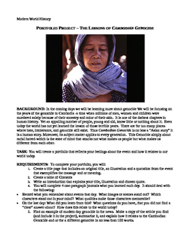 PORTFOLIO PROJECT – THE LESSONS OF CAMBODIAN GENOCIDE