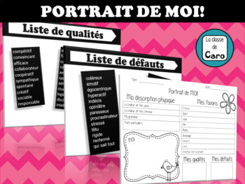 PORTRAIT DE MOI! (ALL ABOUT ME) FRENCH - FSL