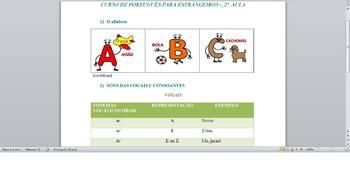 PORTUGUESE LESSON -  2nd CLASS - Alphabet and phonetics