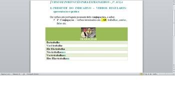 PORTUGUESE LESSON -  Presente do Indicativo