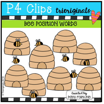 POSITION WORDS Bee Hives (P4 Clips Trioriginals)
