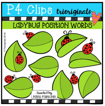 POSITION WORDS Ladybugs (P4 Clips Trioriginals)
