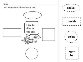 POSITION words & following directions * BUNDLE of 2 * mini-books * printables *