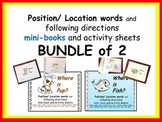 POSITION words & following directions * BUNDLE of 2 * mini