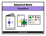 POSITIONAL CONCEPTS Adapted Velcro BOOK, Speech Therapy, Autism, Early Childhood