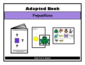 POSITIONAL CONCEPTS Adapted Velcro BOOK, Speech Therapy, A