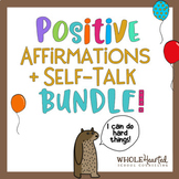 POSITIVE AFFIRMATION BUNDLE! Positive Self-Talk Tags, Decor, Games, Bracelets