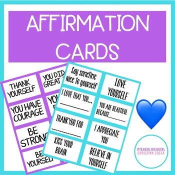 POSITIVE AFFIRMATION CARDS - Empower Students With Positive Messages