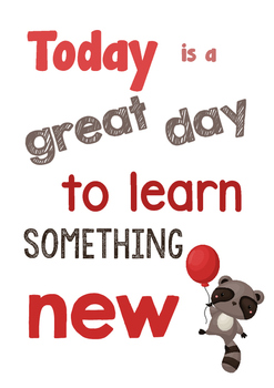 POSITIVE CLASSROOM Poster - Learn Something New