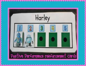 POSITIVE PERFORMANCE/BEHAVIOR REINFORCEMENT CARDS