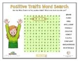 POSITIVE TRAITS WORD SEARCH (Self-Esteem)