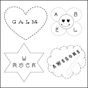 POSITIVE WORDS in BLACK & WHITE images(1)