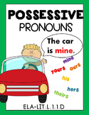 Possessive Pronouns Worksheets Distance Learning