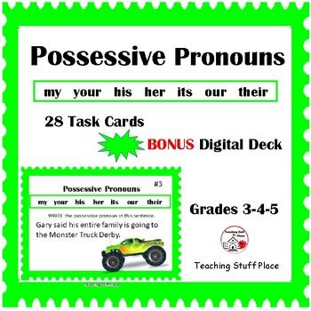 POSSESSIVE PRONOUNS ... Grammar – Parts of Speech ... Plus DIGITAL DECK Gr 3-4-5