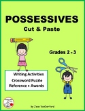 POSSESSIVES ... Cut & Paste Worksheets ... Gr. 2-3