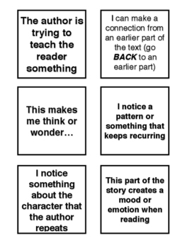 POST-IT TEMPLATE TO USE WITH LUCY CALKINS UNIT 1 READING GRADE 4
