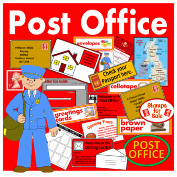 POST OFFICE ROLE PLAY TEACHING RESOURCES EARLY YEARS KEY STAGE 1-2 ADDRESS