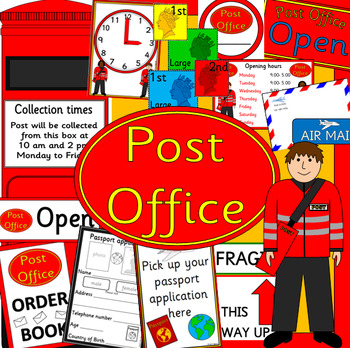 POST OFFICE role play pack- dramatic play- UK