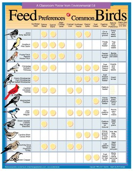 POSTER - Bird Feed Preference Chart