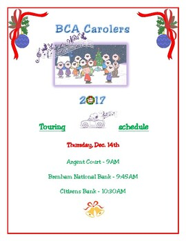 Editable! POSTER - Christmas Carolers/Any event