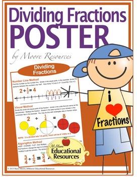"POSTER - Dividing Fractions - 3 Methods - 24"" x 36"""